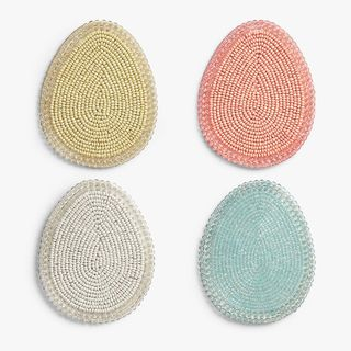 Easter Egg Coasters, Set of 4, Assorted