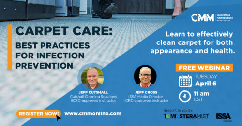 Registration Is Open for the April 6 CMM Carpet Care Webinar