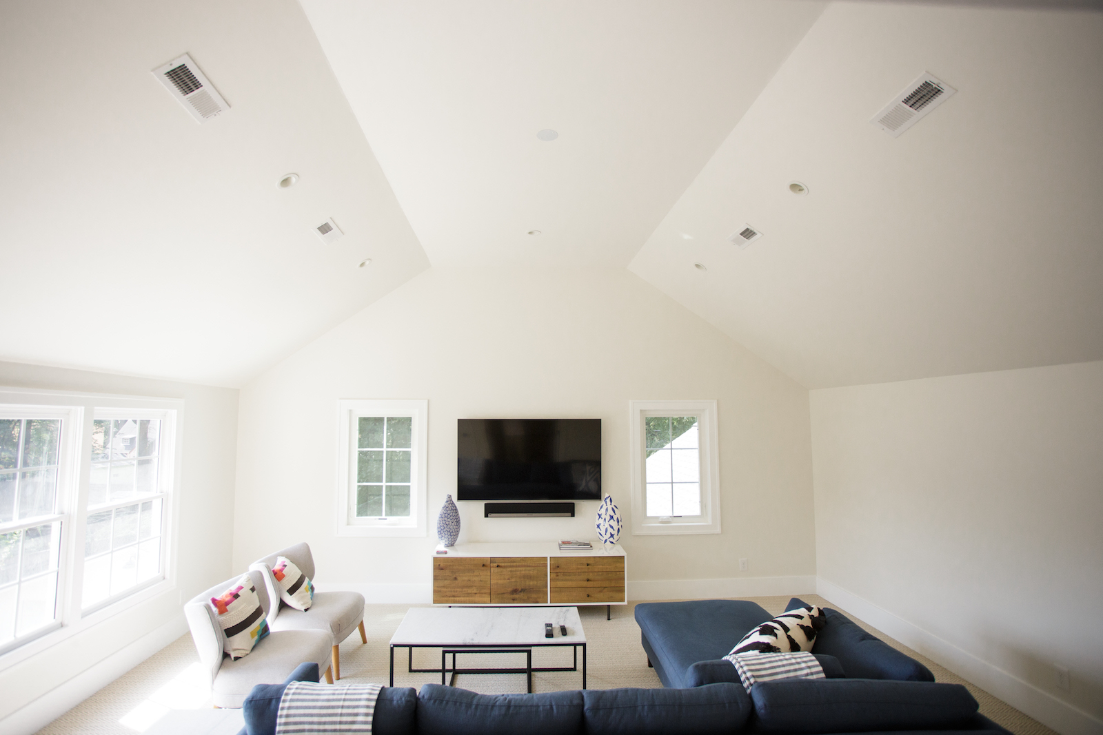 Upstairs recreation area in renovated home