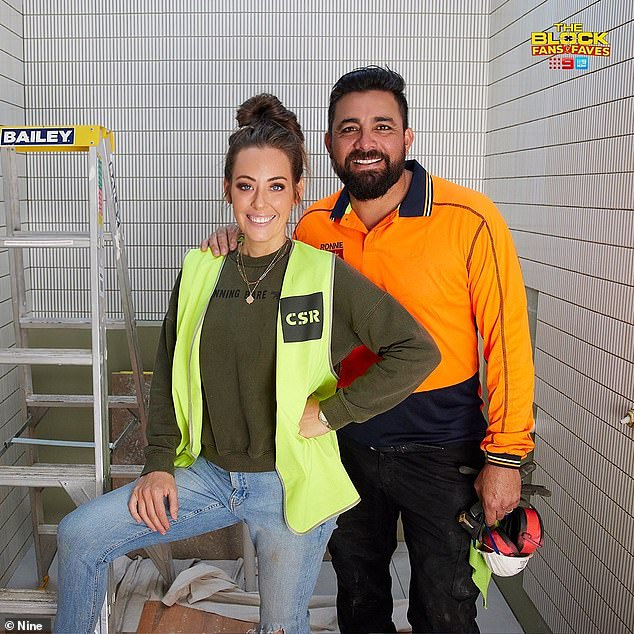 Costly mistake: The WA couple made a huge mistake with their shower that judge Shaynna Blaze just couldn't look past. Pictured,Ronnie and Georgia Caceres
