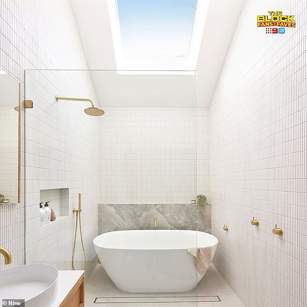 Missing the mark: Ronnie and Georgia Caceres failed to impress the judges with their bathroom renovation on The Block this week