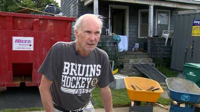 Vincent Gunning, a U.S. Navy veteran who served during the Vietnam War, is getting his home in Lynn, Massachusetts fully renovated by a team of volunteers.
