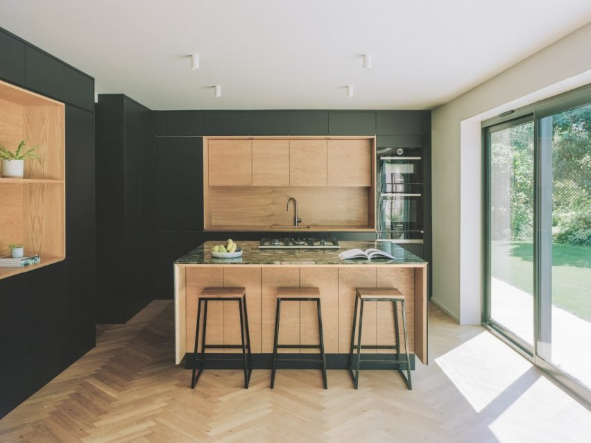 Kitchen of Bawa House by Alter & Company