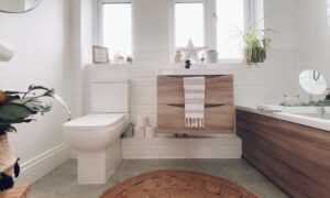 Couple transform old bathroom into a stylish Scandi space on a budget